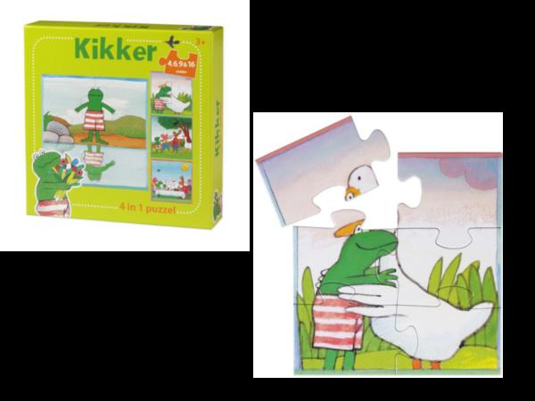 588104 4 in 1 puzzel kikker
